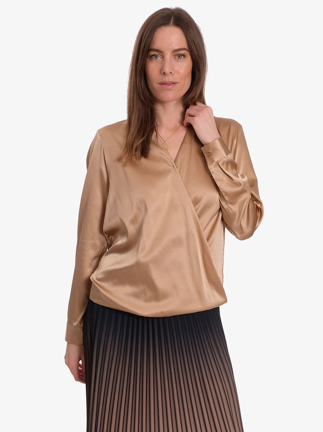 DAKOTA SILK BLOUSE - CUBAN SAND