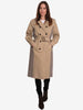 IBA CHECK TRENCH COAT - SAND COMBI