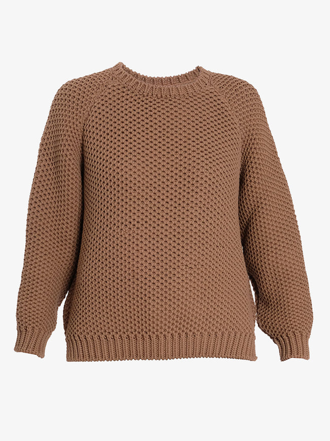 APRIL CHUNKY KNIT JUMPER - BROWN