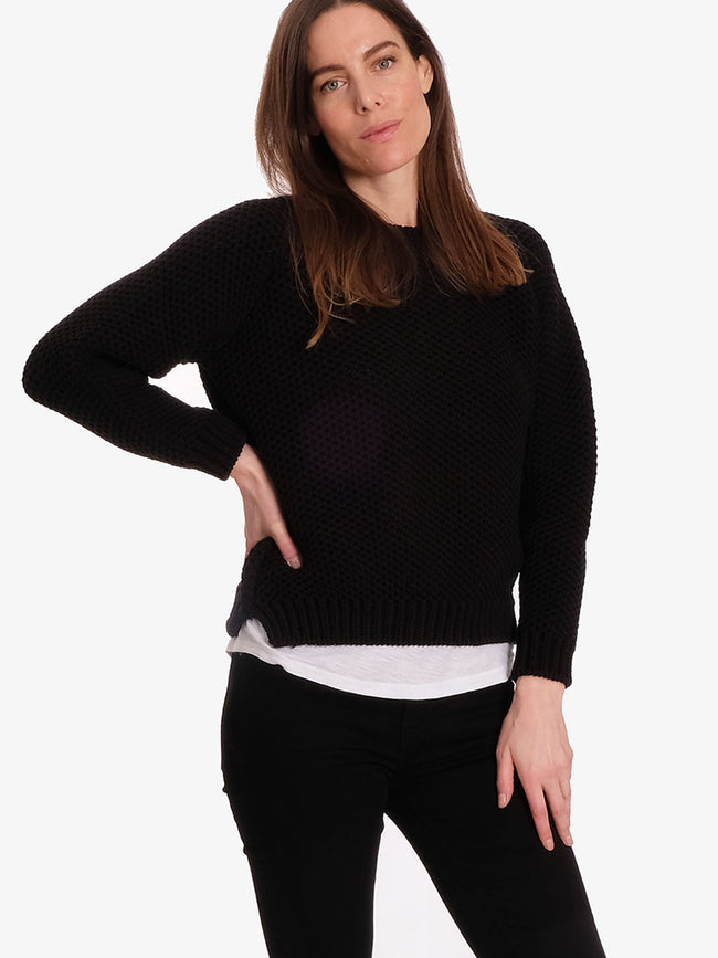 APRIL CHUNKY KNIT JUMPER - BLACK