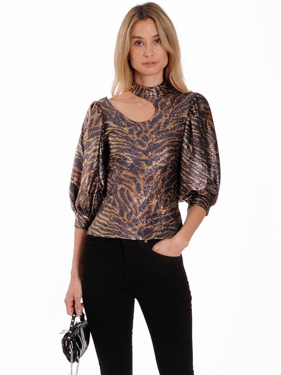 LUREX JERSEY BLOUSE