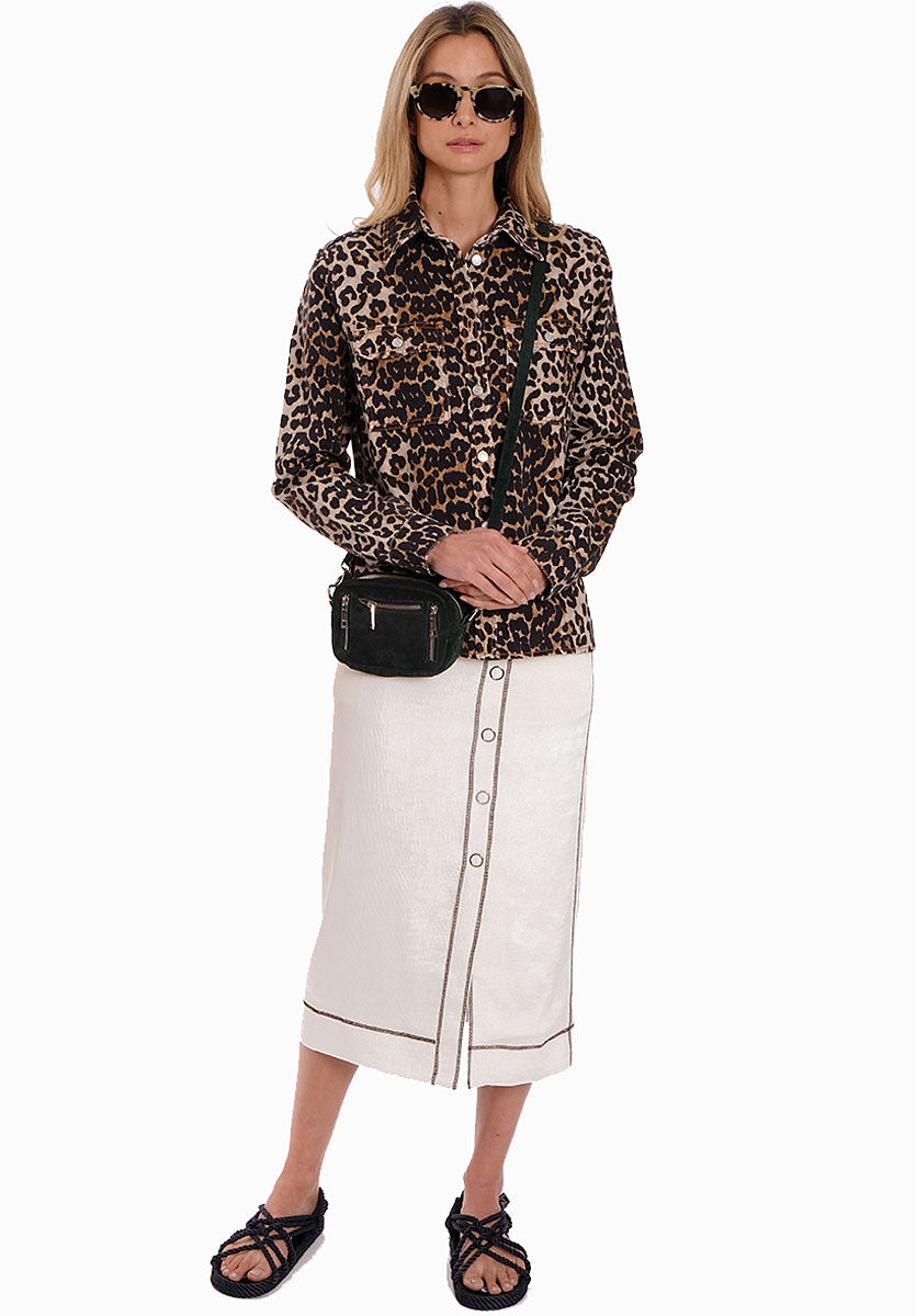 RIPPLED PENCIL SKIRT