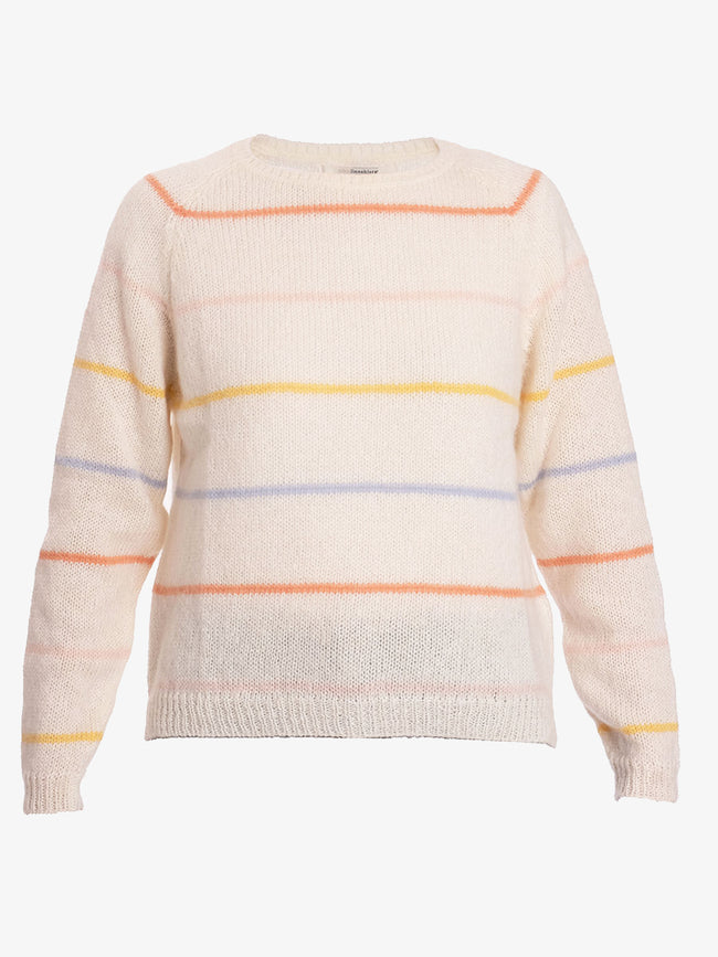 JAYDA THIN STRIPE JUMPER - OFF WHITE