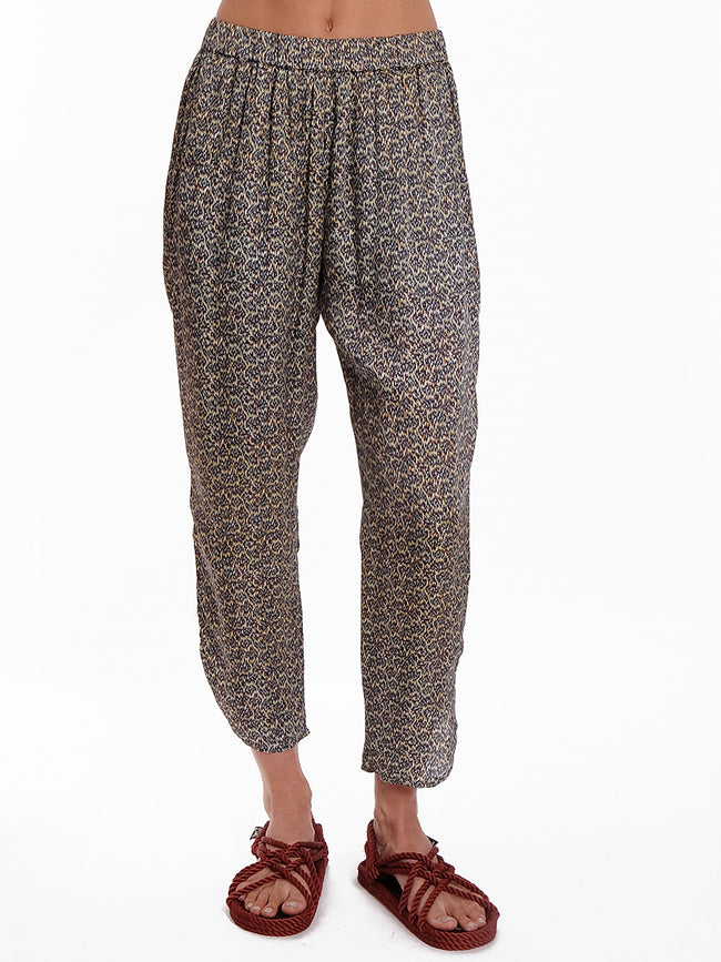 ANNA MULTI PRINTED SATEEN PANTS