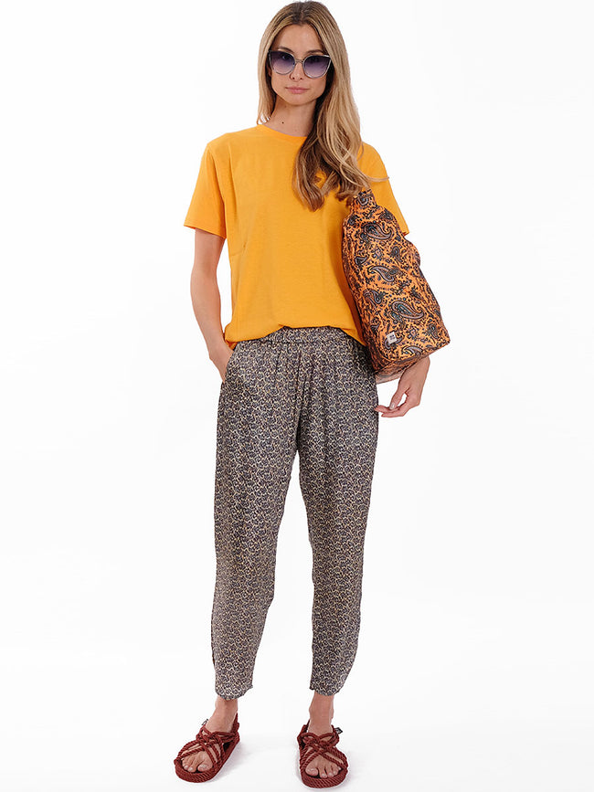 ANNA MULTI PRINTED SATEEN TROUSERS