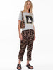ANNA LEO PRINTED SATEEN PANTS