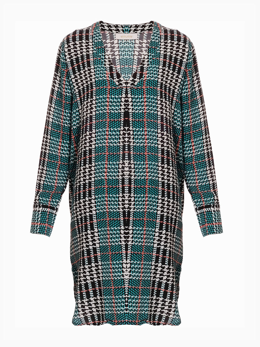 SANDRA PRINTED MIDI KAFTAN DRESS
