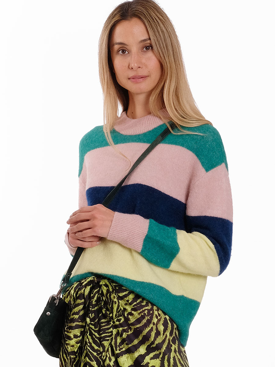 ANOUR SHADY GLADE STRIPEY JUMPER