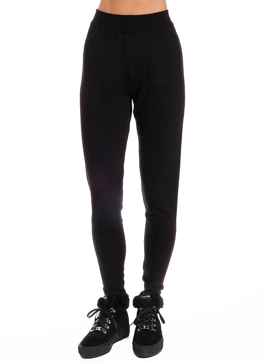SHE KNITTED JOGGERS - BLACK