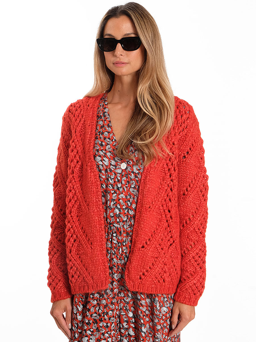 CENTO CARDIGAN - WARM ORANGE