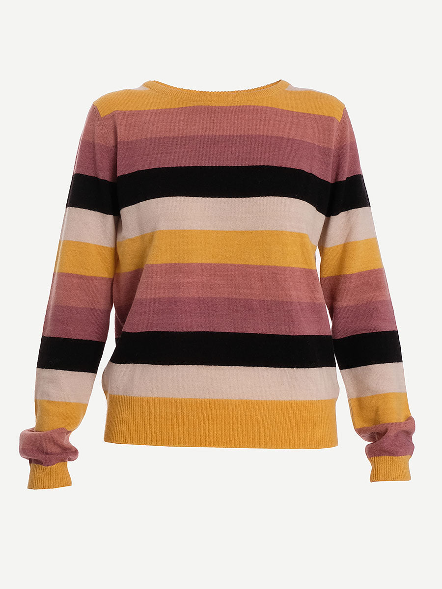 NITANIS STRIPED KNIT JUMPER - CORN YELLOW