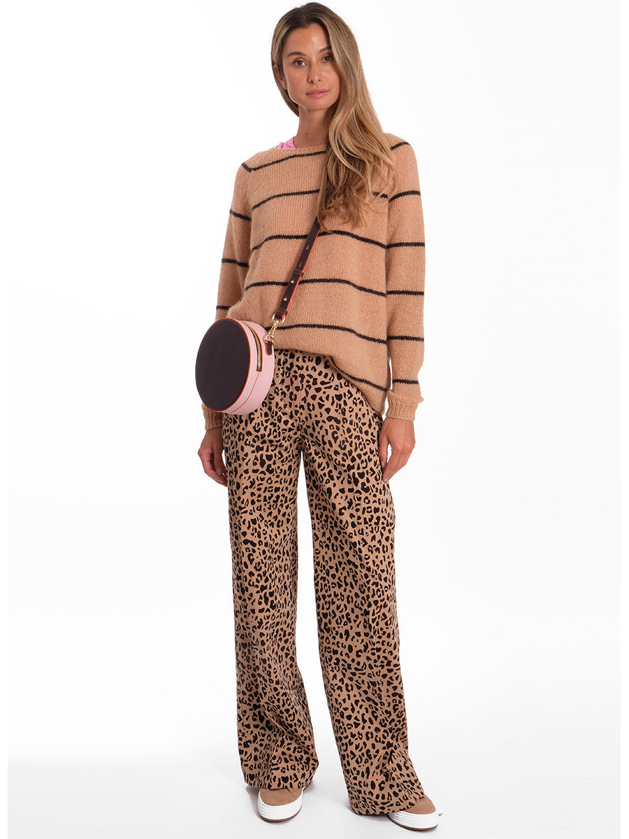 NATIA LEOPARD TROUSERS