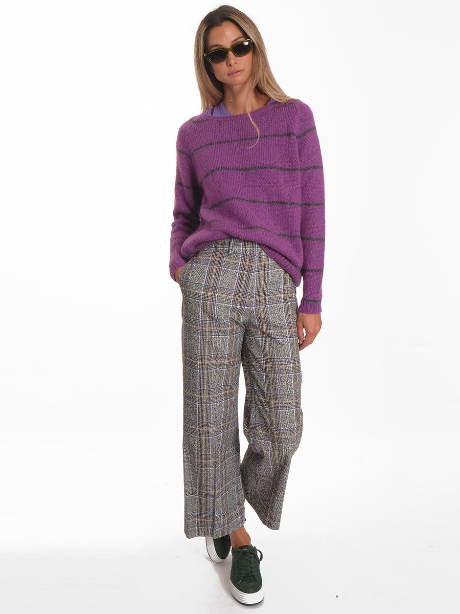 ALVA JUMPER - PURPLE STRIPE