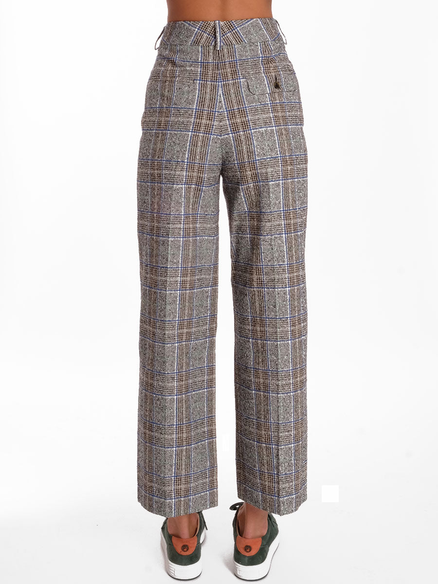 PERLE CHECKED TROUSERS