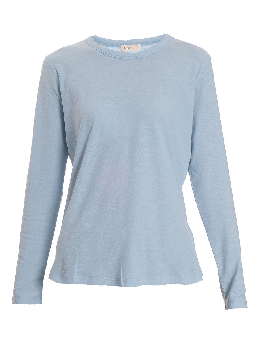 ANY3 LONG SLEEVE CREW NECK T - DUSKY BLUE