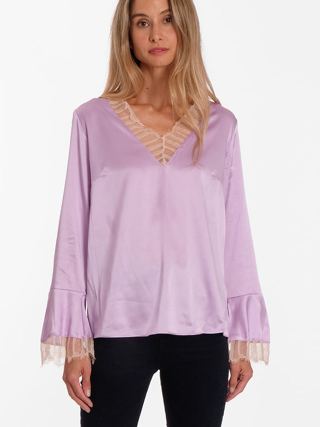 DAKOTA 13 SATIN LACE BLOUSE