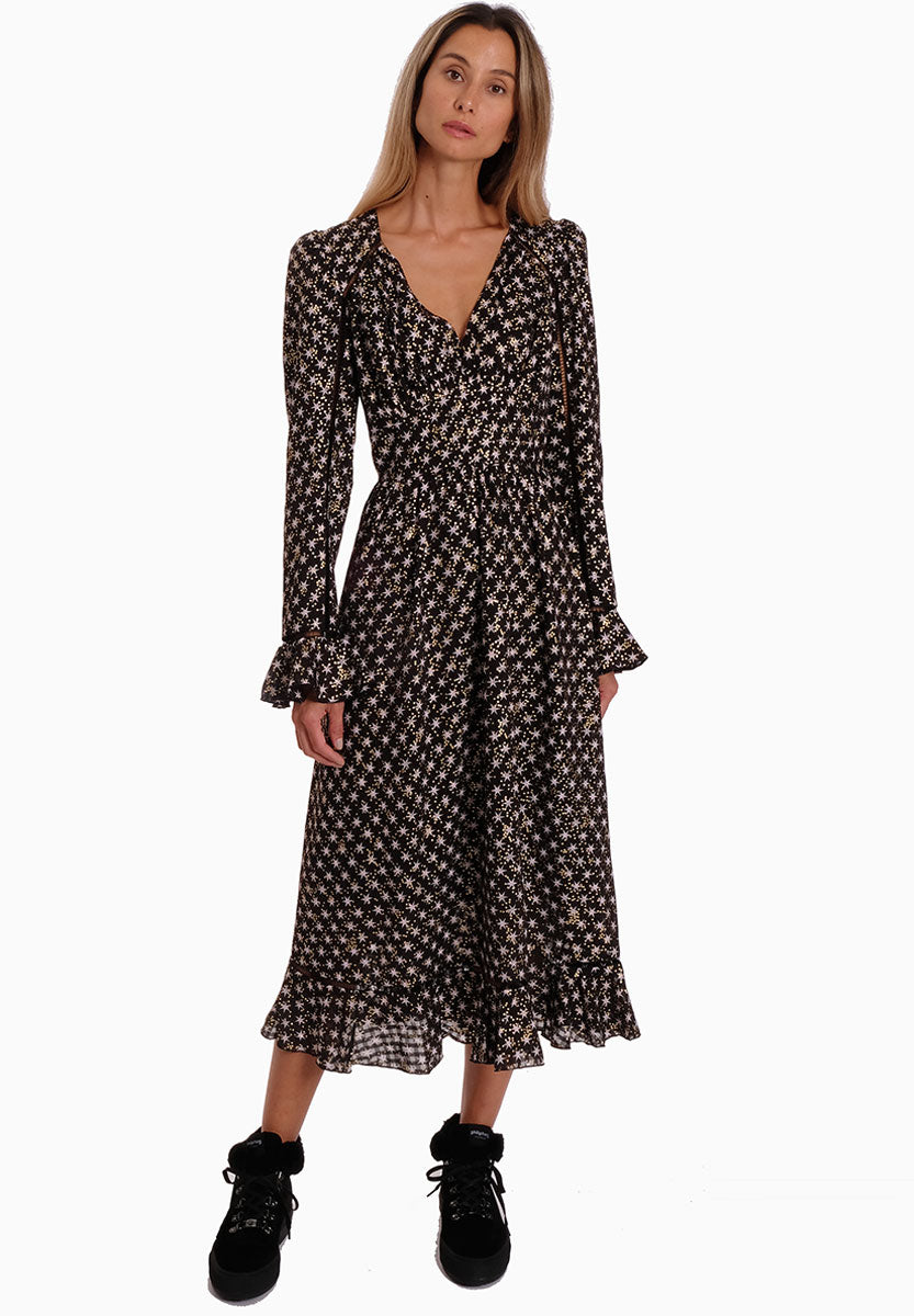 WILLIAM STAR PRINT TEA DRESS