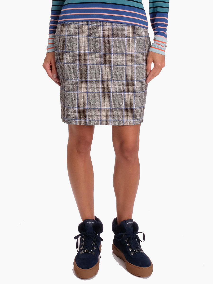 CORY CHECKED SKIRT