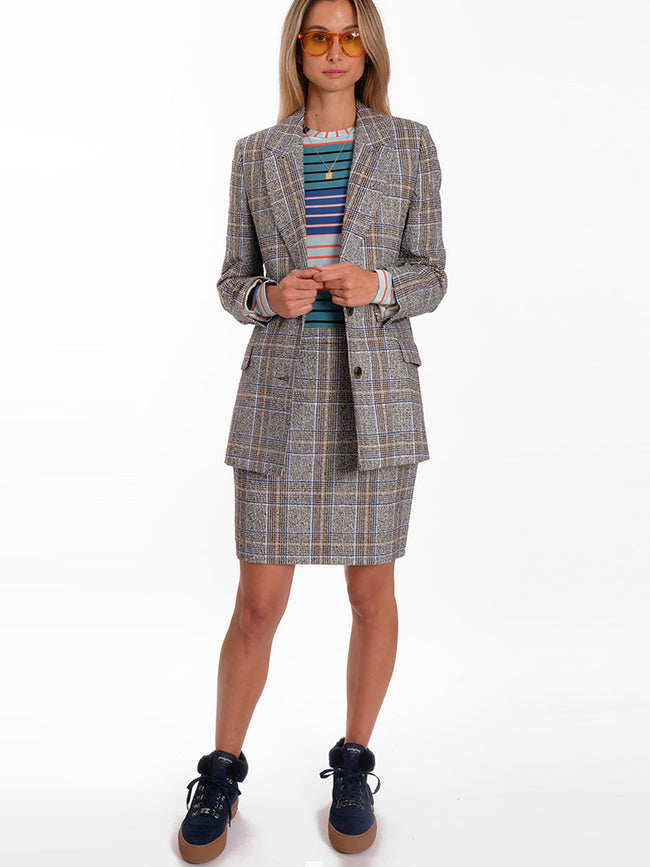 BARLETTI CHECKED BLAZER