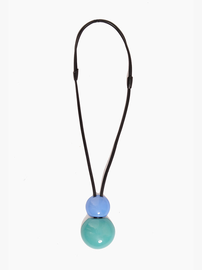 VENEZIA PENDANT NECKLACE - ACQUA POLYESTER