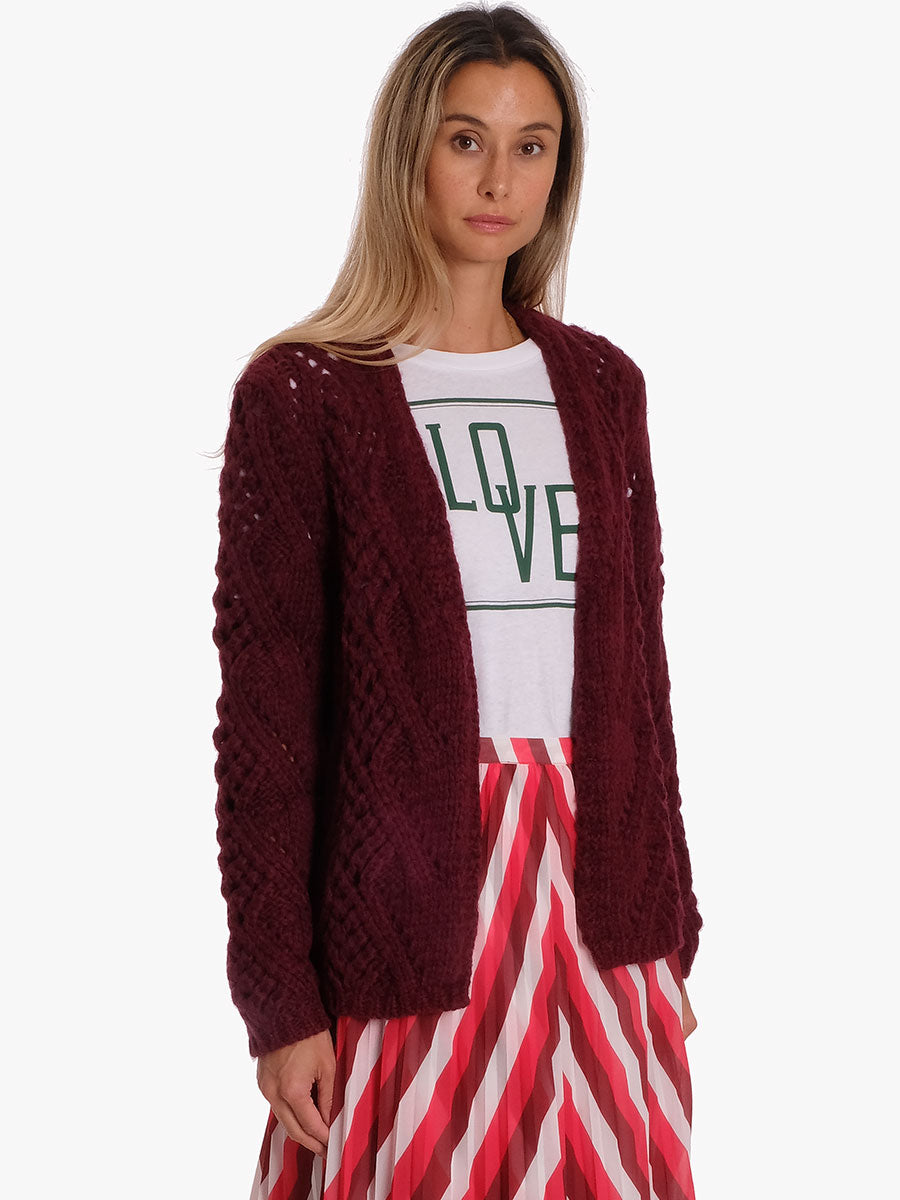 CENTO CARDIGAN - BORDEAUX