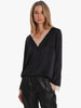 DAKOTA 13 SATIN LACE BLOUSE - BLACK