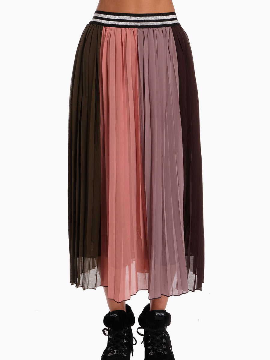 SIXA PLEATED SKIRT - ROSE QUARTZ