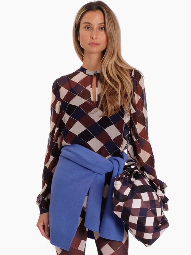 MERTRICE CHECK BLOUSE