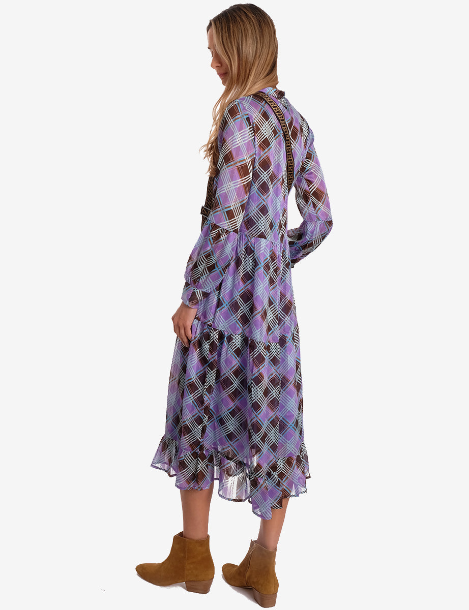 GAMMA DRESS - PURPLE CHECK