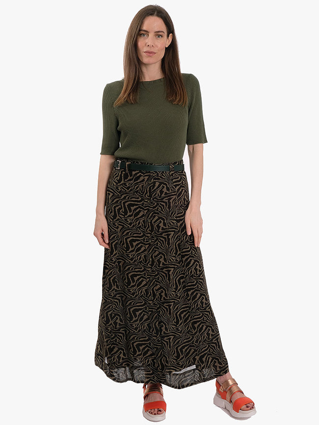 PRINTED GEORGETTE SKIRT - KALAMATA