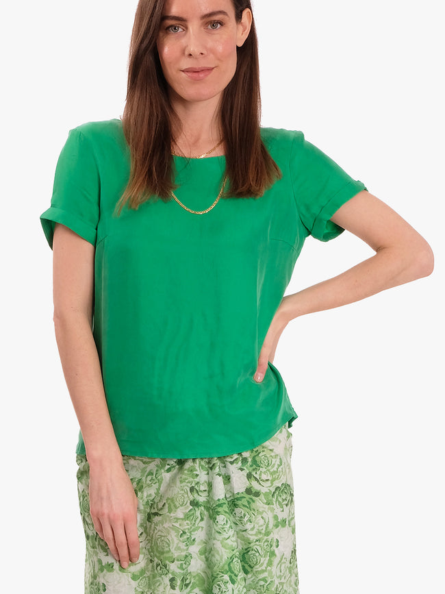 LOLLY SHORT SLEEVE TOP - GREEN