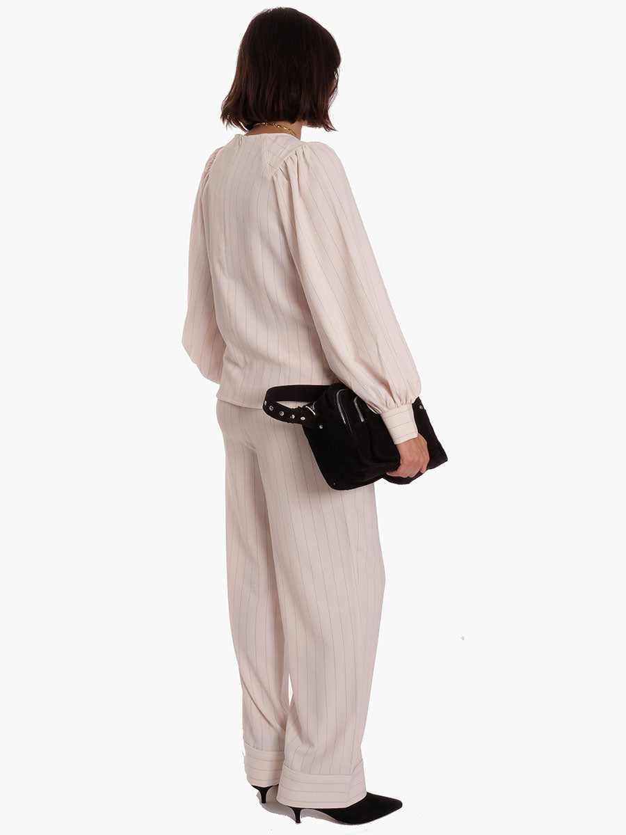 HEAVY CREPE TROUSERS - TAPIOCA