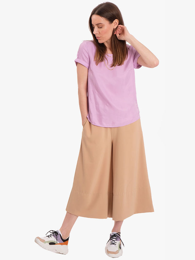 LOLLY SHORT SLEEVE TOP - PURPLE