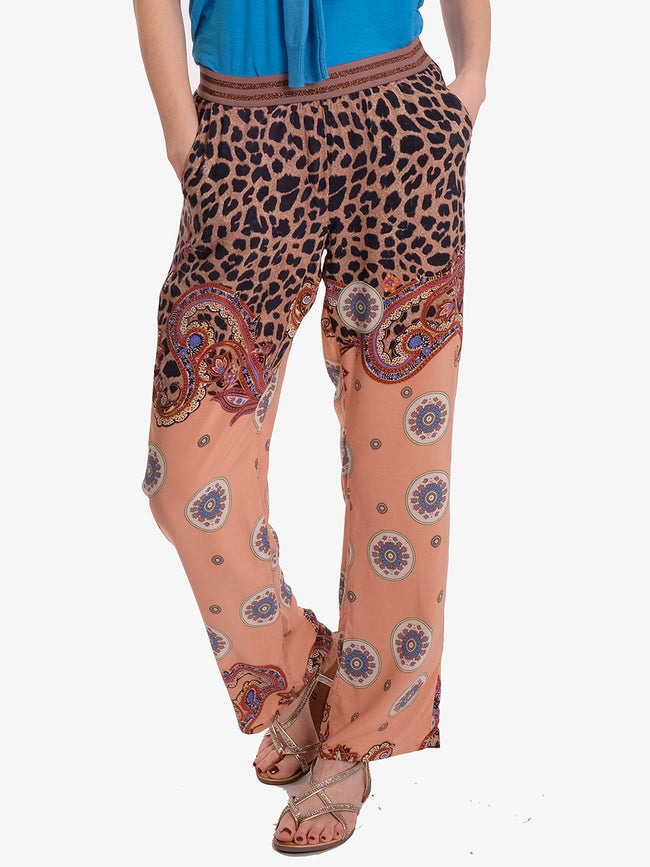 MIRA PRINTED TROUSERS - LEO MIX