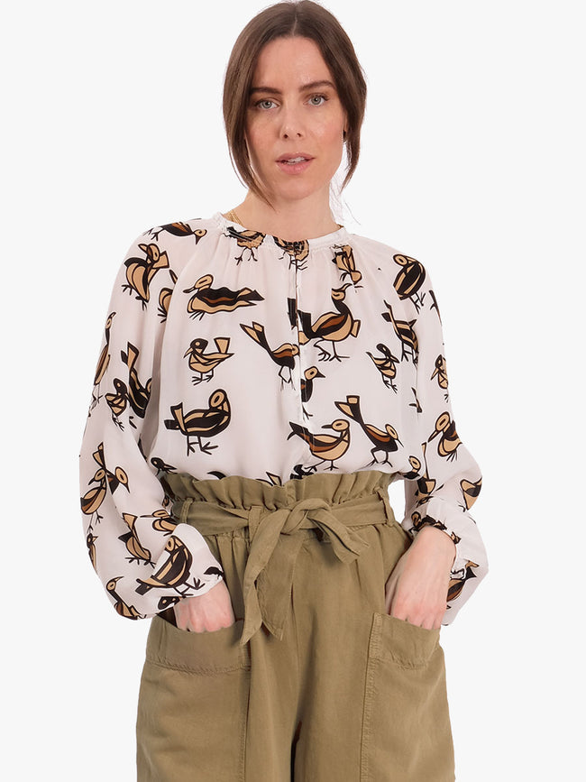 KAIA BLOUSE - LOVEBIRDS
