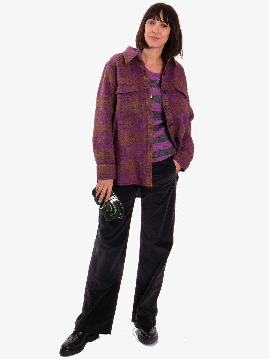 PANAMA JUMPER PURPLE STRIPE