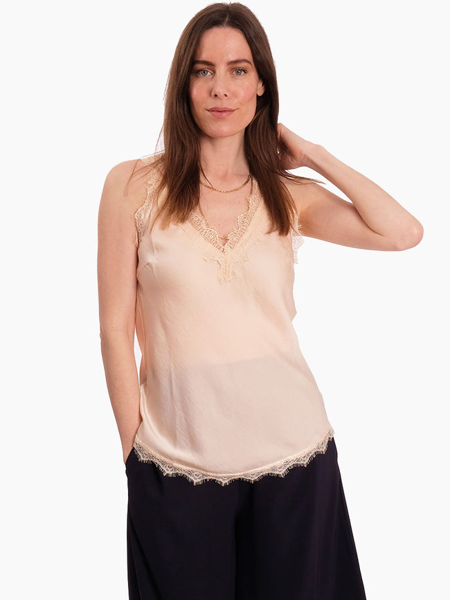 MONEYPENNY LACE TRIM CAMISOLE - NUDE