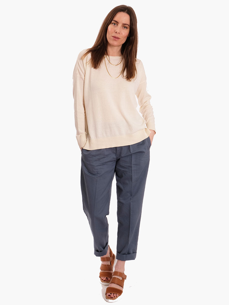 SMILLA TAPERED TROUSERS - BLUE MIRAGE