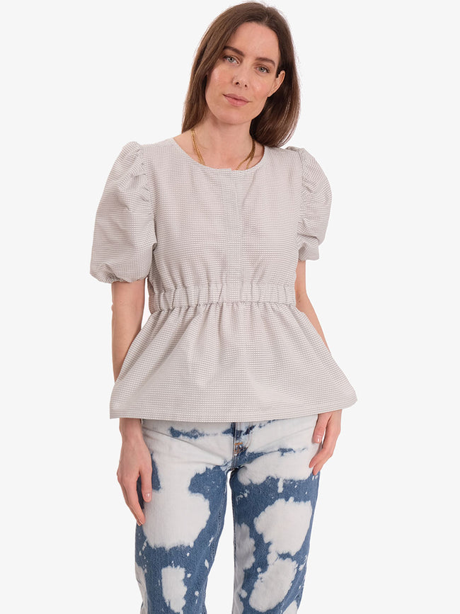 BEA 3D CHECK TOP - GREY