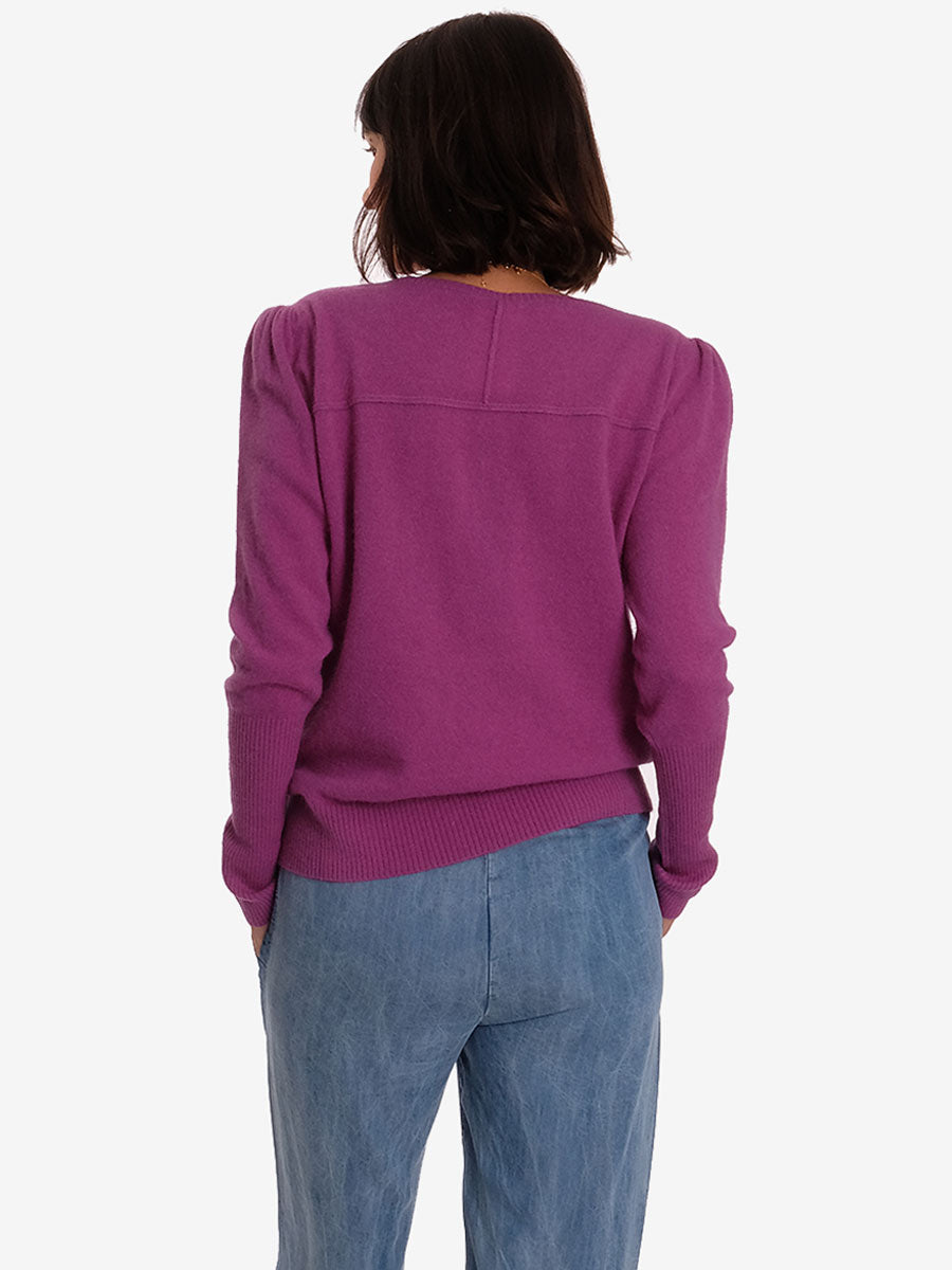 SILVIA PURPLE KNIT JUMPER