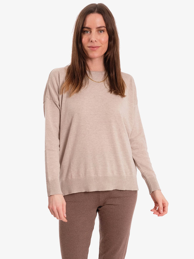 JULIA FINE KNIT JUMPER - LIGHT SAND