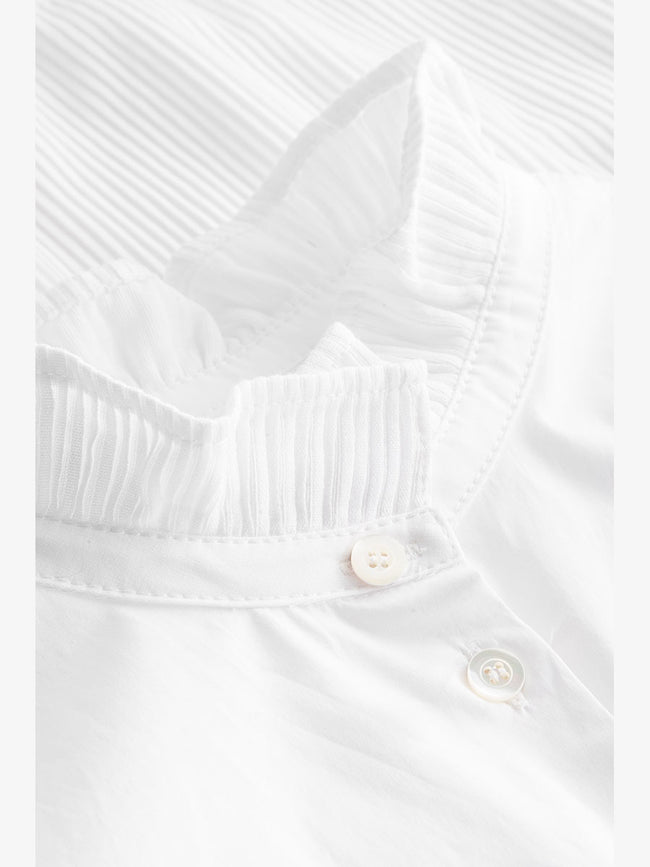 DICTE POPLIN STRETCH SHIRT - WHITE
