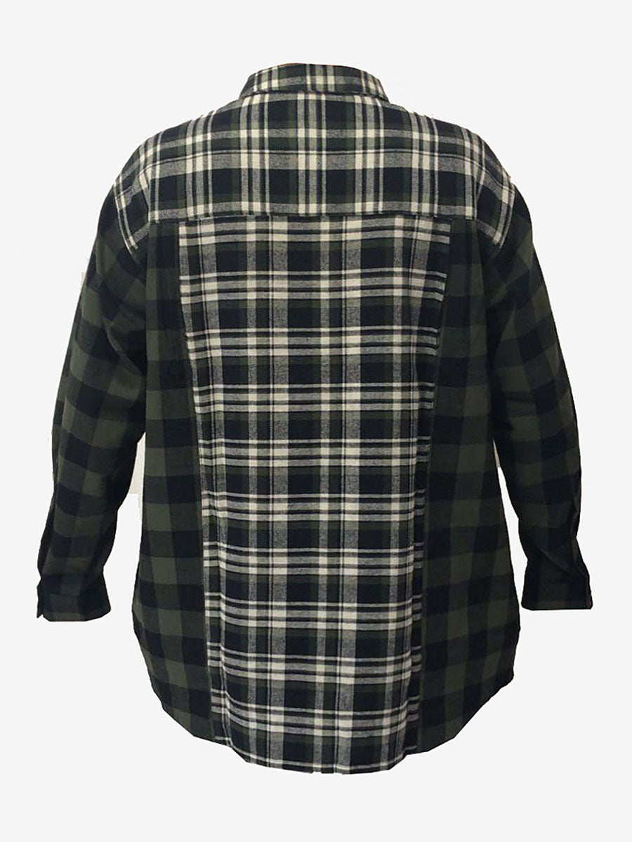 OLLANA CHECK SHIRT - DUFFLE GREEN