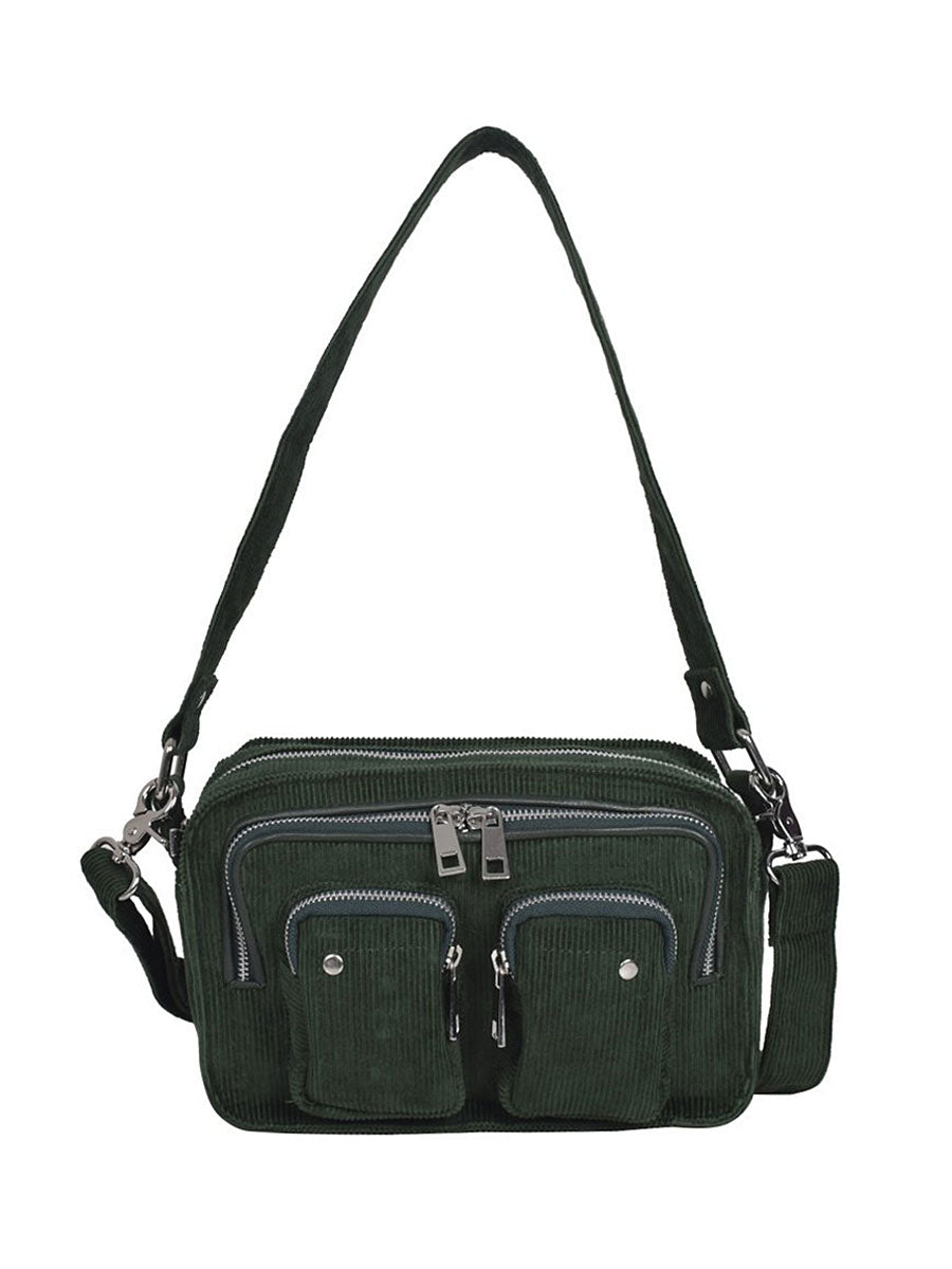 ELLIE CORDUROY BAG - GREEN