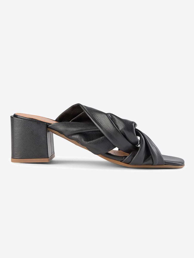 ELODIE TWIST MULES - BLACK