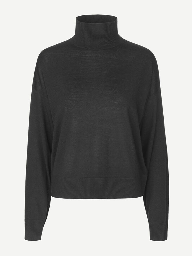 KLEO TURTLENECK JUMPER - BLACK