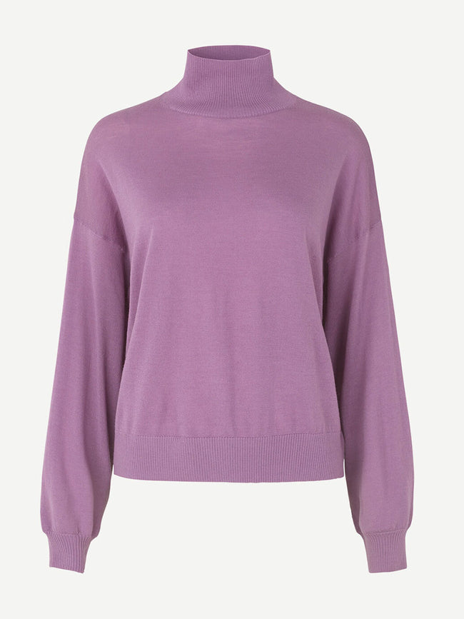 KLEO TURTLENECK JUMPER - PURPLE JASPER