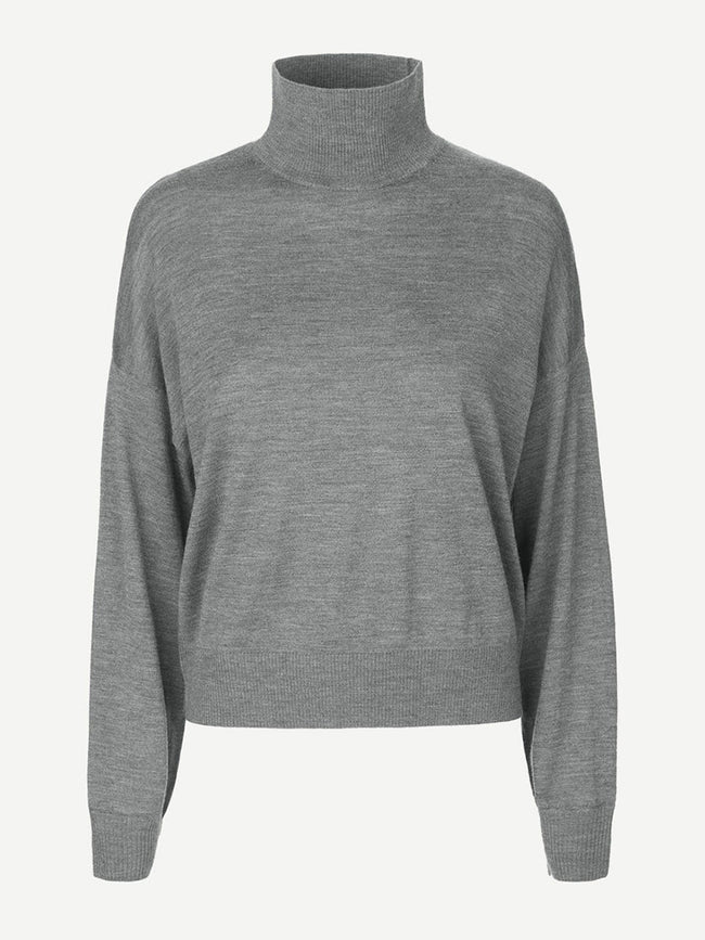 KLEO TURTLENECK JUMPER - DARK GREY MEL