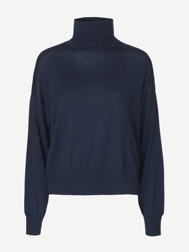 KLEO TURTLENECK JUMPER - NIGHT SKY