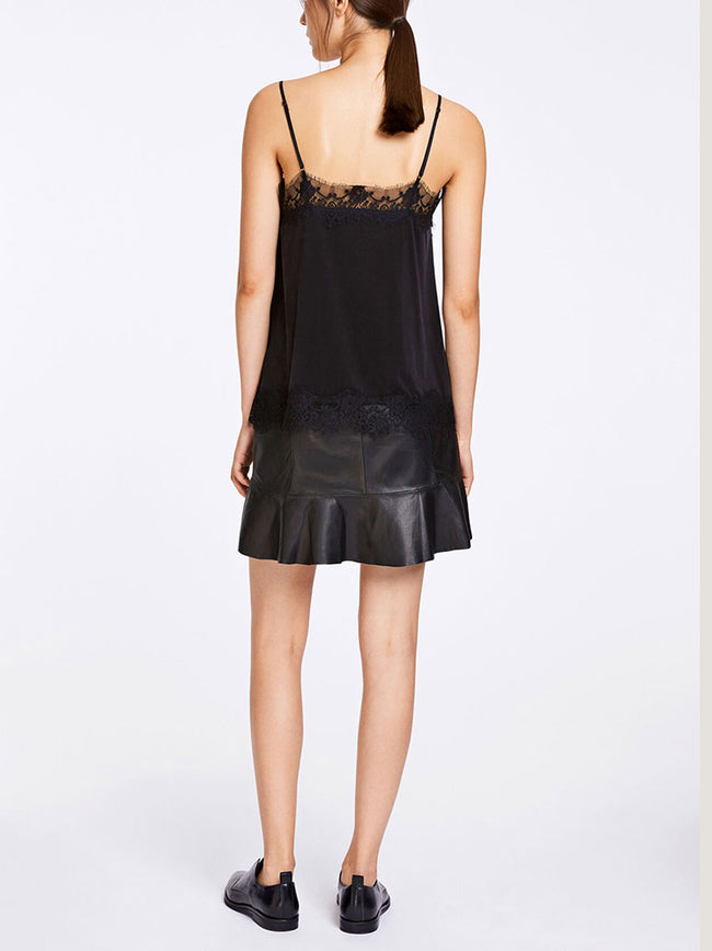 JENNIFER SLIP TOP - BLACK